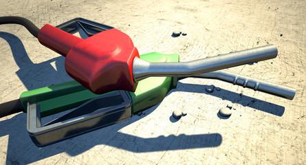Petrol Nozzles In The Desert