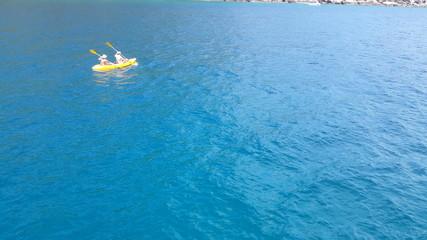 Canoe in the sea