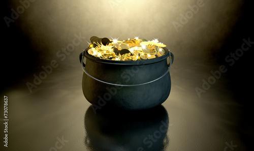 Leinwanddruck Bild Pot Of Gold