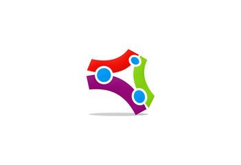 3D shape technology business logo