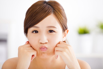 young asian woman face