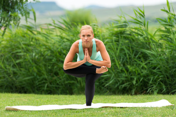 Ankle to Knee Chair Yoga Pose