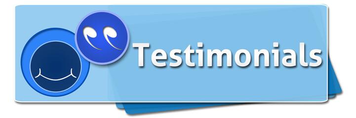 Testimonials Blue Rounded Squares