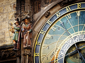 Detail of the Prague Astronomical Clock