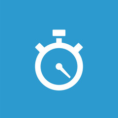 timer icon, white on the blue background .