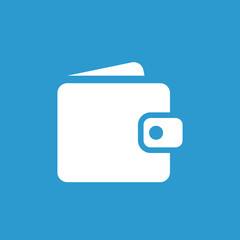 wallet icon, white on the blue background .