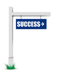 Success sign isolated on white