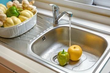 washing vegetable and fruit