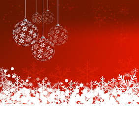 Christmas Background with balls. Abstract Vector Illustration. E