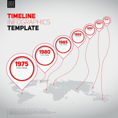 Vector retro Infographic Timeline Template with pointers, can be
