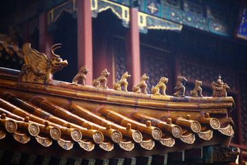 Chinese roof tops