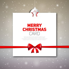 Merry Christmas greeting card, vector