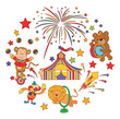 Funny and Cute Circus Parade set