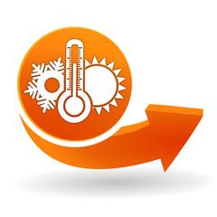 climatisation sur bouton web orange