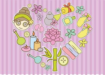 Spa and Salon cute Illustration