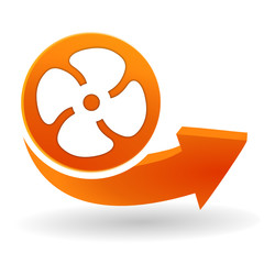 ventilation sur bouton web orange
