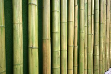 Bambushölzer, aneinandergereiht