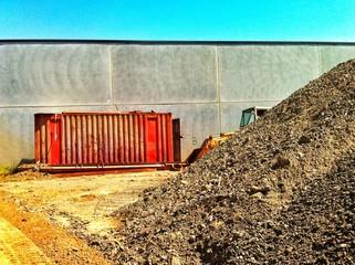 Land moving work training site