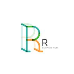Minimal R font or letter logo design