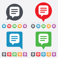 Chat sign icon. Speech bubble symbol.