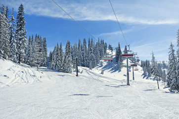 ski lift mountain skiing snow