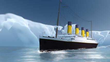 Historisches Pasagierschiff im ewigen Eis