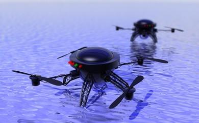 Drones inzetten bij zoektocht boven water