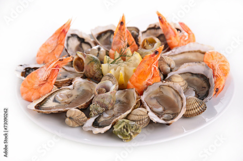 Staande foto Schaaldieren seafood platter