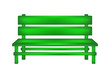 Rural bench in green design
