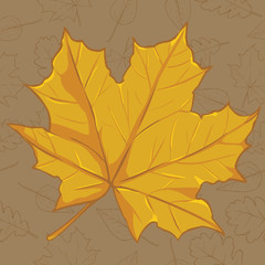 Vector Cartoon Autumn Icon