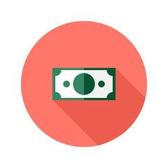 Money Banknote Circle Flat Icon