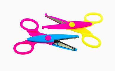 pair zigzag scissors for art