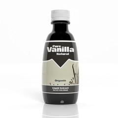 3D Vanilla extract bottle isolated on white