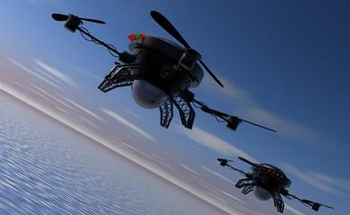 Drones ingezet bij missie boven water
