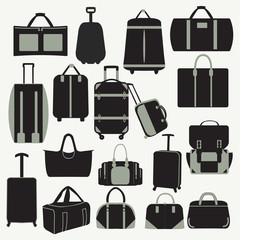 Baggage theme icons-illustation