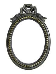 Ribbon Oval Photo Frame isolated on white background