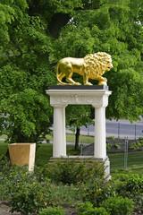 Lion statue in the park Klein-Glienicke, Potsdam, Berlin, UNESCO