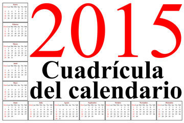 spanish calendar grid for latin south america