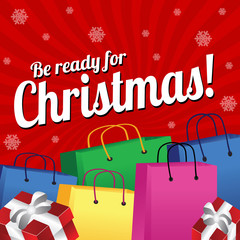Be ready for Christmas background design