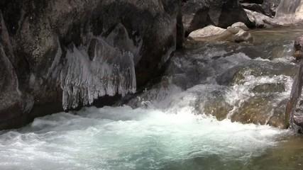 Rough mountain flow.