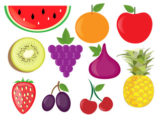 Fruits vector set