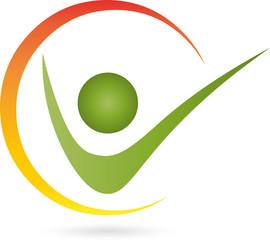Logo, Mensch, Fitness, Physiotherapie, Heilpraktiker,