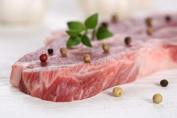 Rohes Schweinefleisch Kotelett
