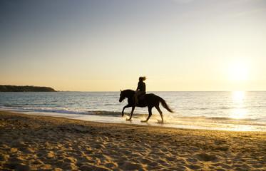 wooman on horseback