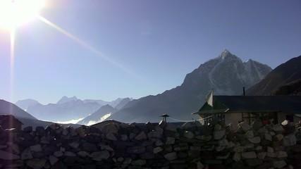 View of Kangtega Peak from Somare. Nepal.