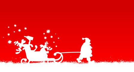 Weihnachtsmann zieht Elche