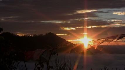 Dawn in the Himalayas. Nepal.