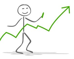 Strichmännchen Chart grün