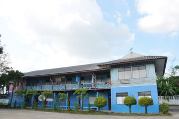 Children School Building at countryside in Thailand