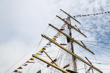 Masts of a Tall Ship sailing vessel